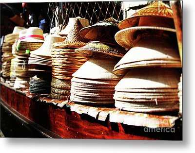 Metal Print featuring the photograph Rice Hats by Thanh Tran