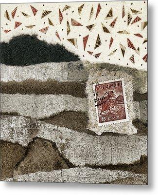 Rice Paddies Collage Metal Print by Carol Leigh