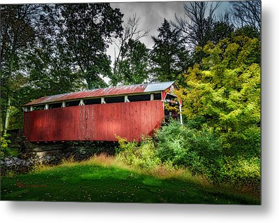Richards Covered Bridge Metal Print by Marvin Spates
