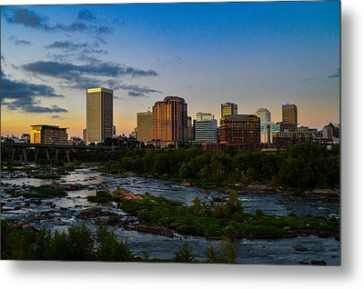 Richmond Skyline At Dusk Metal Print
