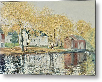Richmondtown Pond Metal Print