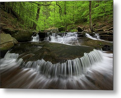Ricketts Glen State Park Pennsylvania Metal Print by Mark VanDyke
