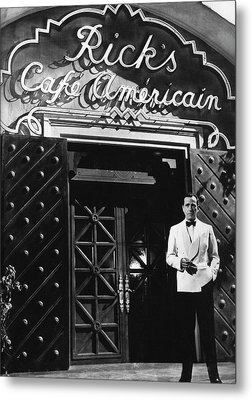 Ricks Cafe Americain Casablanca 1942 Metal Print by David Lee Guss
