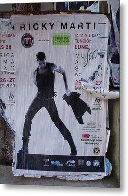 Ricky Martin In Concert Metal Print by Anna Villarreal Garbis