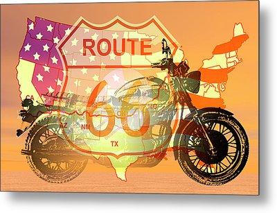 Ride Route 66 Metal Print