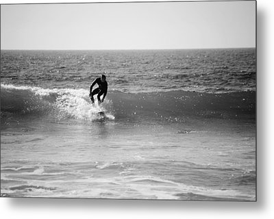 Ride The Surf Metal Print by Bransen Devey