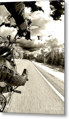 Ride To Live Metal Print