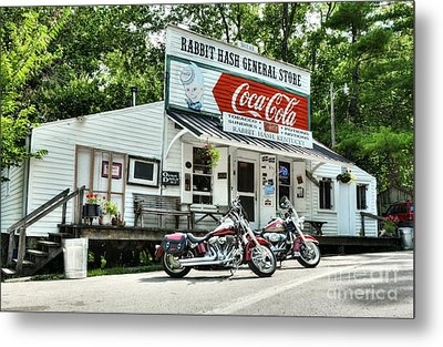 Ride To Rabbit Hash Metal Print by Mel Steinhauer