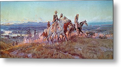 Riders Of The Open Range Metal Print