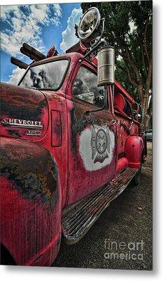 Ridgway Fire Truck Metal Print
