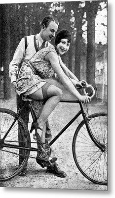 Riding Bike Makes Sexy Metal Print by Steve K