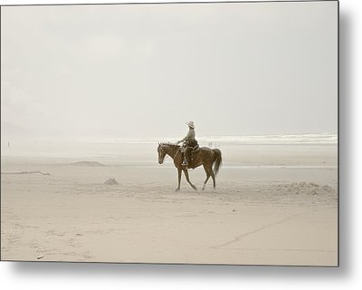 Metal Print featuring the photograph Riding On The Beach by Craig Perry-Ollila