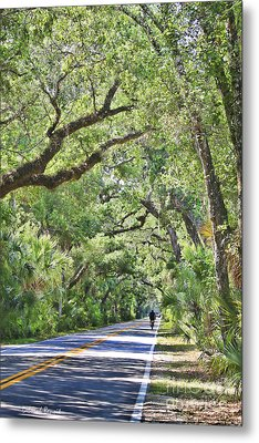 Riding The Ormond Loop Metal Print