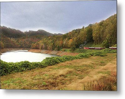 Metal Print featuring the digital art Riding The Rails by Sharon Batdorf