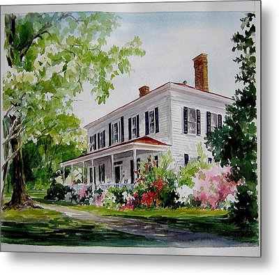 Metal Print featuring the painting Ried-thurman-wannamaker Home by Gloria Turner