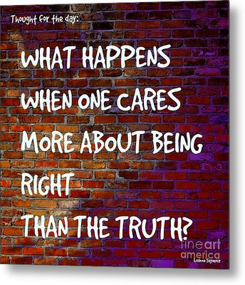 Right V Truth - On The Wall Metal Print