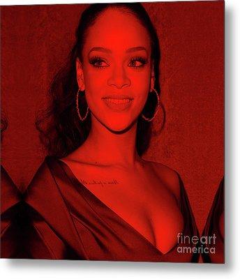 Rihanna Metal Print by Mona Jain