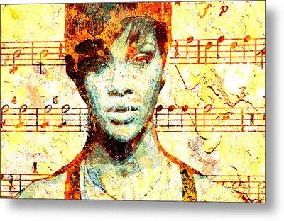Rihanna Metal Print by Chandler  Douglas