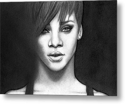 Rihanna Metal Print by Rikke MY