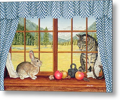 Rimrock Cottontail Metal Print