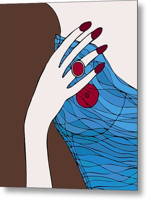 Ring Finger Metal Print by Frank Tschakert