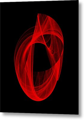 Ring Unraveling I Metal Print by Robert Krawczyk