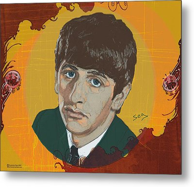 Ringo Starr Metal Print by Suzanne Gee