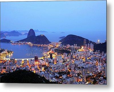 Rio De Janeiro, Beautiful City Metal Print