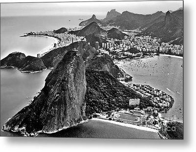 Rio De Janeiro - Sugar Loaf, Corcovado And Baia De Guanabara Metal Print