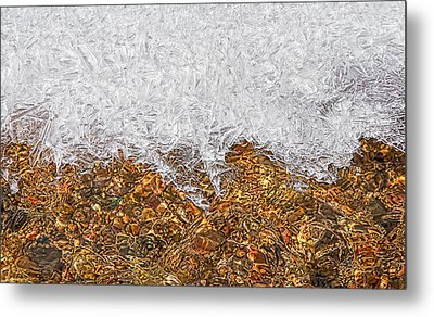 Rio Embudo Ice Metal Print by Britt Runyon