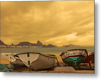 Metal Print featuring the photograph Rio Fishing Boats by Kim Wilson