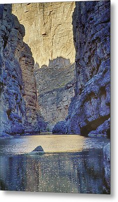 Metal Print featuring the tapestry - textile Rio Grand, Santa Elena Canyon Texas 2 by Kathy Adams Clark
