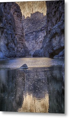 Metal Print featuring the tapestry - textile Rio Grand, Santa Elena Canyon Texas by Kathy Adams Clark