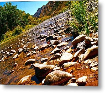 Rio Grande Above Santa Fe Metal Print by Chuck Taylor