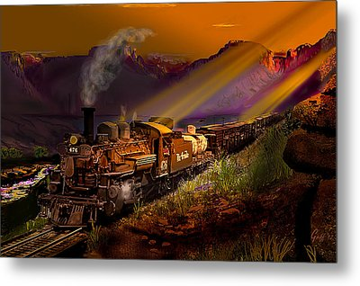 Rio Grande Early Morning Gold Metal Print by J Griff Griffin