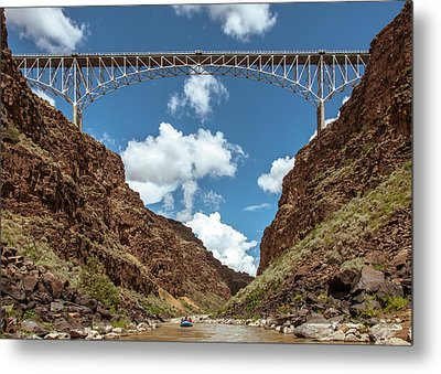 Rio Grande Gorge Bridge Metal Print by Britt Runyon