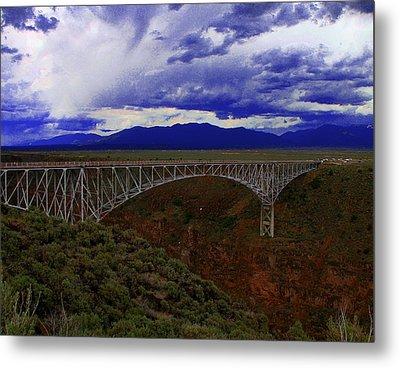 Rio Grande Gorge Bridge Metal Print by Neil McCarver