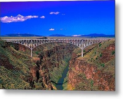 Rio Grande Gorge Bridge Taos County Nm Metal Print by Troy Montemayor