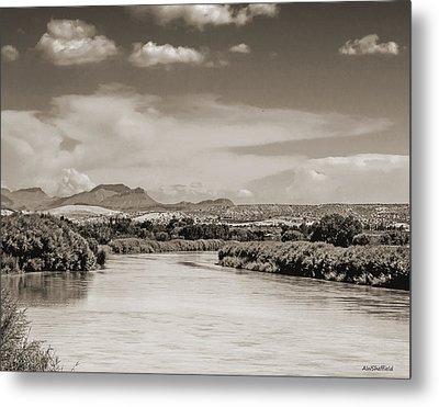 Rio Grande In Sepia Metal Print