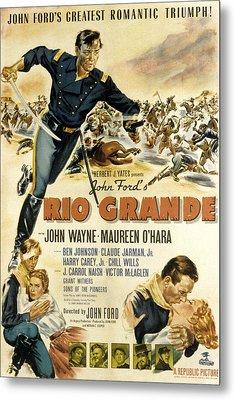 Rio Grande, John Wayne, Claude Jarman Metal Print