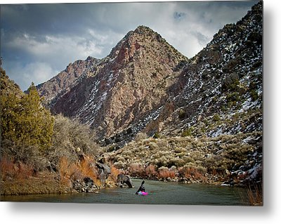 Metal Print featuring the photograph Rio Grande Racecourse In Winter by Atom Crawford
