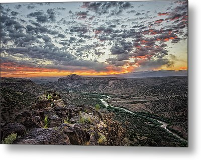 Rio Grande River Sunrise 2 - White Rock New Mexico Metal Print by Brian Harig