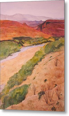 Rio Grande River Valley Metal Print by Myrna Salaun