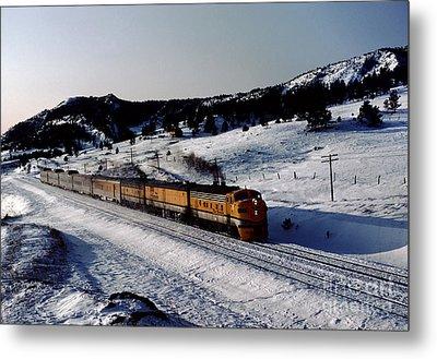 Rio Grande Zephyr Trainset In The Snow, Plainview Colorado, 1983 Metal Print