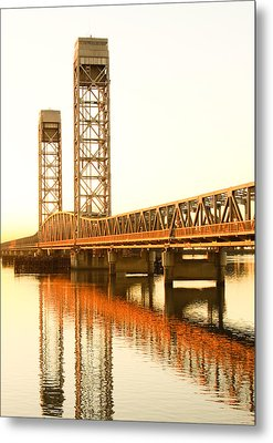 Rio Vista Bridge Sunrise Metal Print by Troy Montemayor
