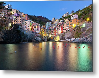 Riomaggiore After Sunset Metal Print by Sebastian Wasek