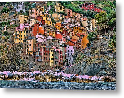 Metal Print featuring the photograph Riomaggiore by Allen Beatty