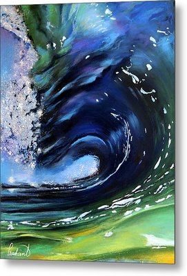 Rip Curl - Dynamic Ocean Wave  Metal Print by Prashant Shah