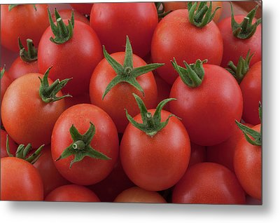 Metal Print featuring the photograph Ripe Garden Cherry Tomatoes by James BO Insogna