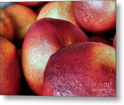 Ripe Peaches Metal Print by Janice Drew